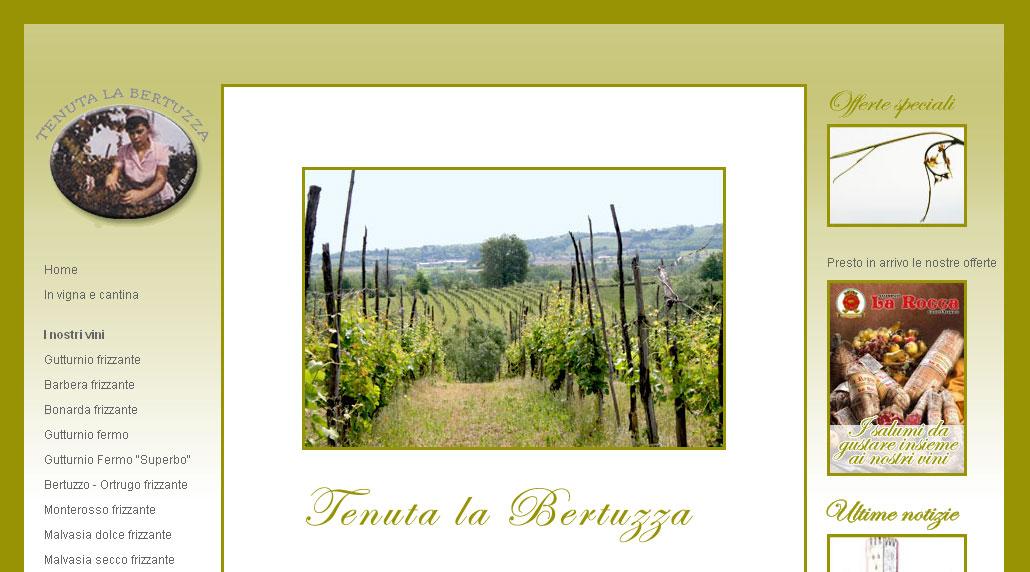Online il sito di Tenuta la Bertuzza