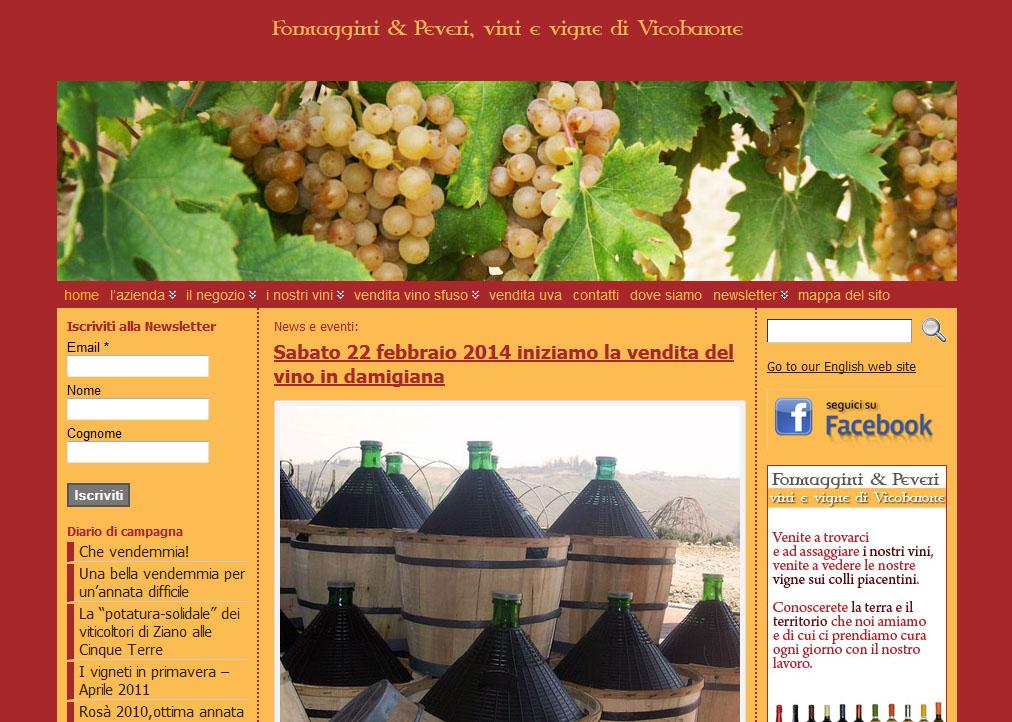 Rinnovato il sito Formagginivini.it