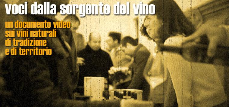 """""""Voci dalla sorgente del vino"""", un video documento dedicato ai vini naturali"""