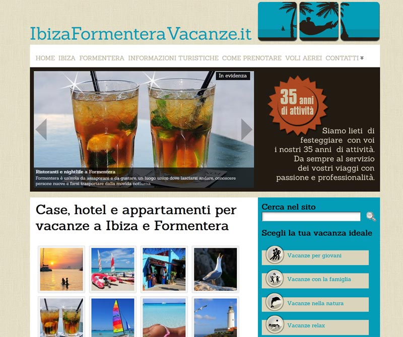 creazione siti di viaggio e vacanze