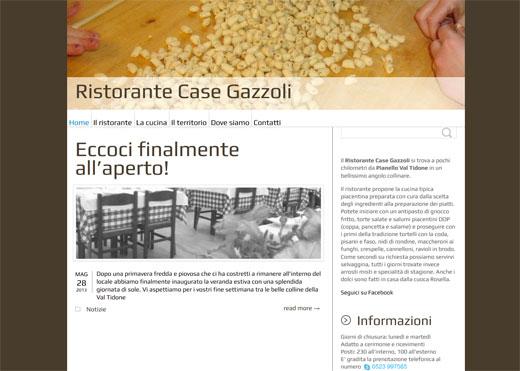Pubblicato il nuovo sito del Ristorante Case Gazzoli