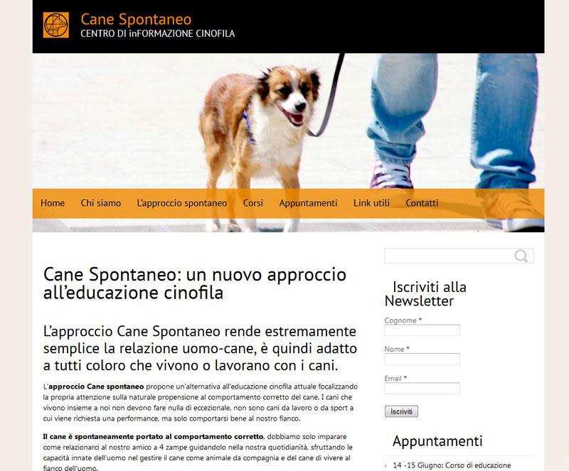 In linea il sito del Centro Cane Spontaneo