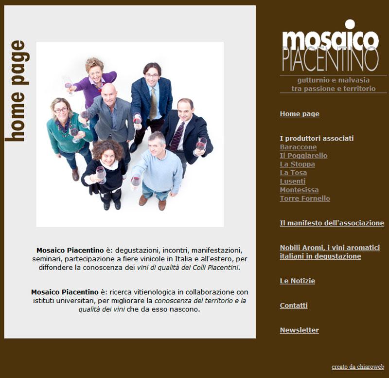 Il nuovo sito di Mosaico Piacentino