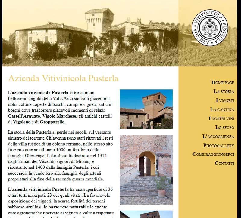 Azienda Vitivinicola Pusterla, il nuovo sito