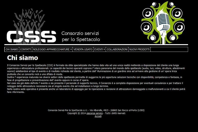 Consorzio servizi per lo spettacolo, il sito dei service audio luci a Piacenza