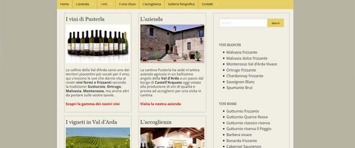 Creazione sito internet della cantina Pusterla a Castell'Arquato