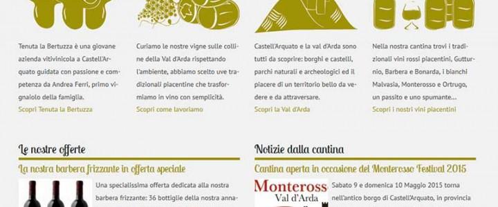 Pubblicato il sito internet della cantina Tenuta La Bertuzza