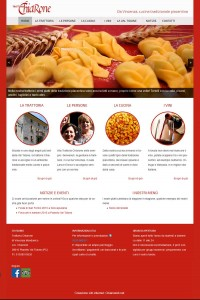 Sito internet mobile friendly trattoria Chiarone