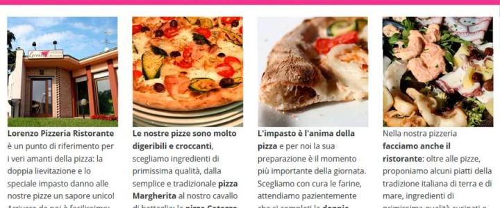 Pizzeria Lorenzo, un accogliente sito internet