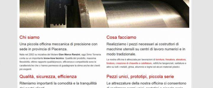 Simo Torneria, sito artigianale per tutti i dispositivi